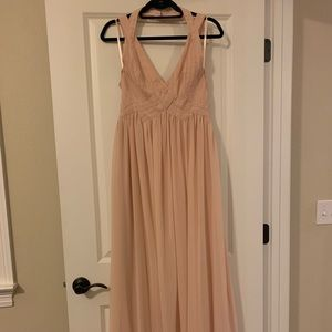 Lulu's Dresses - Lulus Tan maxi dress